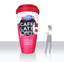 riesiger Kaffeebecher aufblasbar - Caffé Latte Becher
