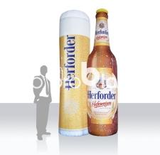 Aufblasbare Produktnachbildung Bier Herforder Bierflasche und Bierglas