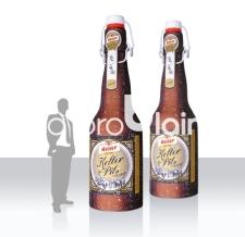 riesen große aufblasbare Bierflasche mit Bügelverschluss - Kellerpils