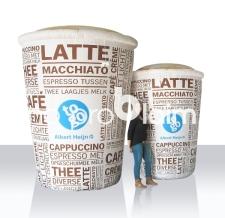 Aufblasbare Produktnachbildung - großer aufblasbarer Kaffeebecher to go