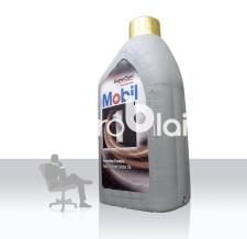 große aufblasbare Ölflasche - Mobil