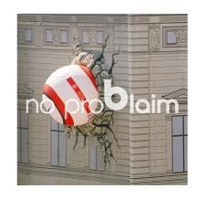 3D Werbung aufblasbar - aufblasbare Fassadenwerbung - Nike Ball