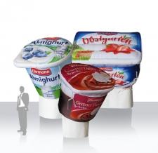 aufblasbare riesige Joghurtbecher Ehrmann