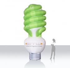 Luftgefüllte Produktvergrößerung - Energiesparlampe STW