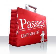 Aufblasbare Produktnachbildung - Passage Einkaufstasche
