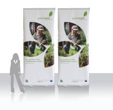 Werbung mit Roll Ups - greencare