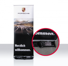Roll Up - Porsche - mit Sandsäcken