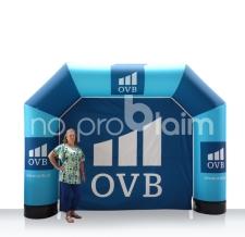 kleiner aufblasbarer Start- und Zielbogen mit Rückwand - Bogen MAX OVB