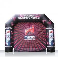 aufblasbarer Bogen MAX Radio Energy mit abnehmbarer Rückwand