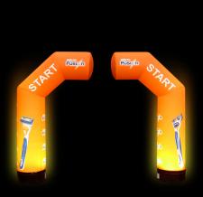 aufblasbarer zweiteiliger Bogen - MAX special - Halbbogen Gilette
