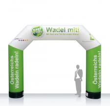 Aufblasbarer Werbebogen - Bogen MAX Wadel mit