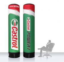 Aufblasbare Werbesäule Easy MAX - Castrol