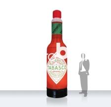 aufblasbare riesige Flasche - Flaschen MAX tabasco