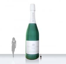 Aufblasbare Sektflasche - Super Flaschen MAX Bründlmayer