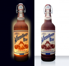 aufblasbare beleuchtete Flaschen - beleuchteter Super Flaschen MAX Wieselburger