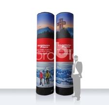 aufblasbare Litfaßsäule - MAX Werbesäule Kitzbüheler Alpen