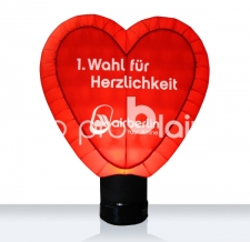 Aufblasbares Herz beleuchtet - Special MAX Air Berlin