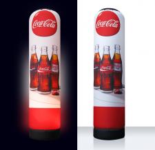 XXL Lichtsäule aufblasbar - Super MAX Coca Cola