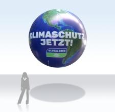 riesige Heliumkugel Klimaschutz