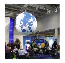 riesige Helium Weltkugel - Doppelmayer