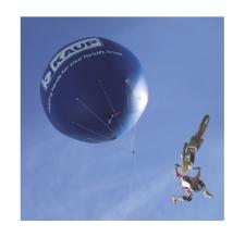 Riesenballon fliegend - Kaup