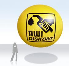 Fliegender Werbeballon - AWI Diskont