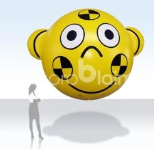 Werbeballon fliegend Bärenform - 300 cm