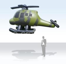 Aufblasbare fliegende Sonderform - Helicopter