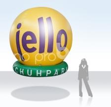 Fliegender Ballon Sonderform - Jello Schuhmarkt