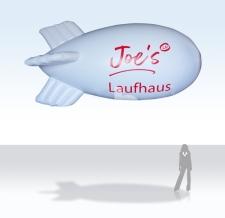 Werbezeppelin - Heliumzeppelin - Joe's Laufhaus