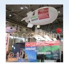 Heliumzeppelin mit Wechselbanner - Urlaubshamster