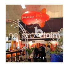 Fliegender Werbe-Zeppelin - Jobpilot Gewinnmesse