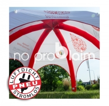 Luftdichtes Werbezelt, Eventzelt, Messezelt - Pneu Zelt SPIDER