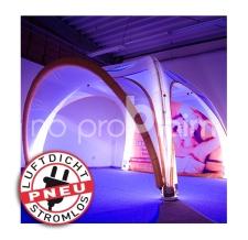 aufblasbare Zelt mit Licht - Pneu Zelt SQUARE mit Beleuchtung