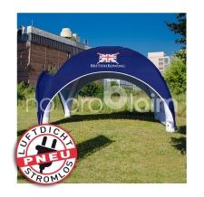 Stromloses aufblasbare Pavillon / Markzelt / Verkaufzelt  - Pneu Zelt SQUARE british rowing
