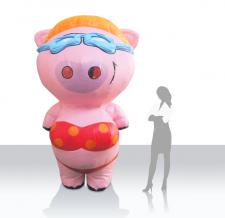 Maskottchen Kostüm - Walker Tromvolino Bikinischweinchen