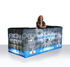 aufblasbarer Counter, Messestand - Info Bar Radio mainwelle