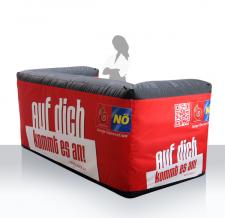 aufblasbare Messetheke, Promotioncounter - aufblasbare Info Bar eckig Niederösterreich