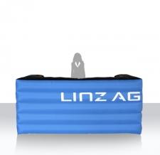 Aufblasbare Messe- und Promotioncounter - Info Bar eckig Linz AG