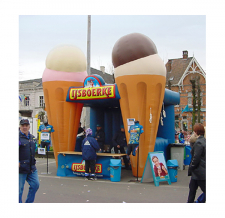 spezielles aufblasbares Messe- und Verkaufszelt Ijsboerke-Eis