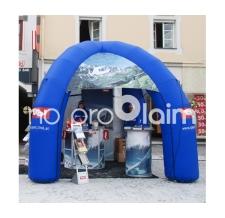 Aufblasbares Werbezelt Classic 4-Bein Tirol mit Infotheke