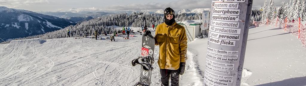 Inflatable im Schnee