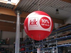 Ballons zur Verkaufsförderung