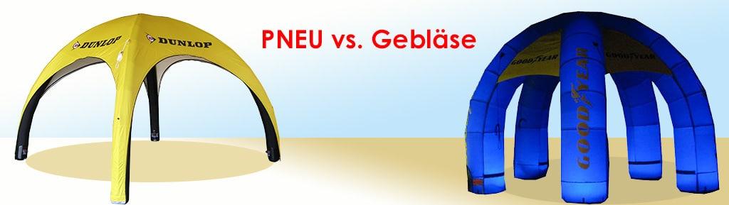 Pneu oder Gebläse? Inflatables-Gegenüberstellung