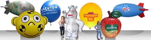 Ein Werbeballon – viele Formen