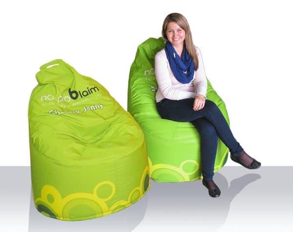 Sitzsäcke mit Firmenbranding