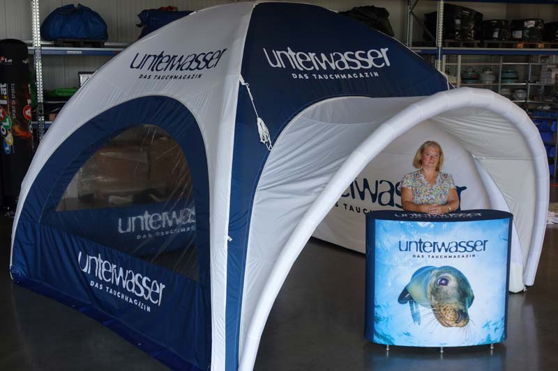 Point of Sales - Inflatable Beispiel Unterwasser